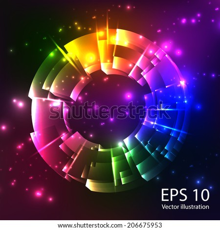 Abstract vector spherel background. EPS 10.