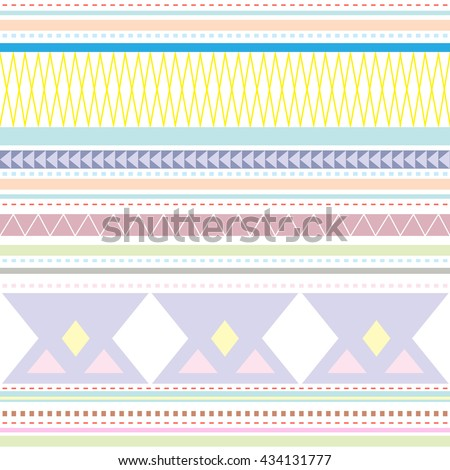 Abstract vector tribal  background, seamless pattern