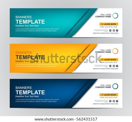 Abstract Web Banner Design Background Header Stock Vector