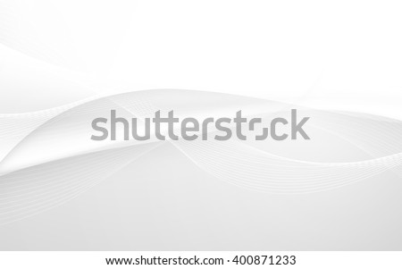 Abstract white waves - data stream concept. Vector illustration. Clip-art