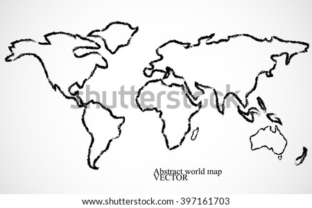 Best popular world map outline graphic stock vector 510215428 abstract world map vector illustration gumiabroncs Choice Image