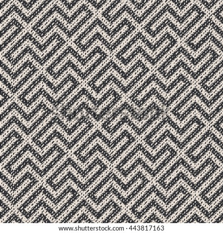 Abstract zigzag elements flecked  geometric motif. Seamless pattern.