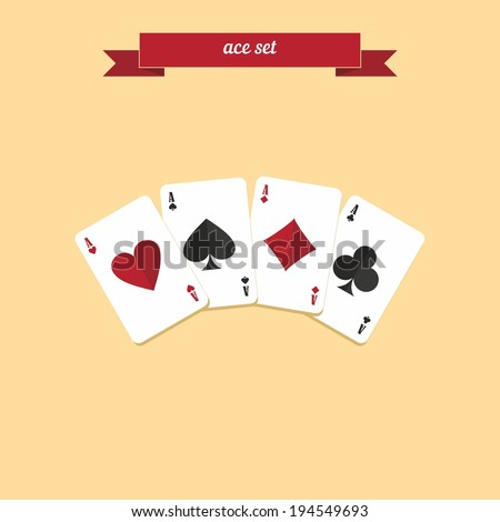 ace set poker combination gambling cards