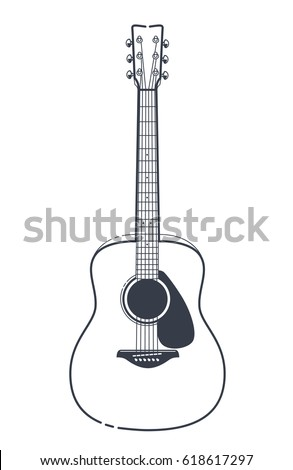 Abstract Rocknroll Image Two Revolvers Guitar Stock Vector ...