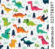 adorable seamless pattern with...