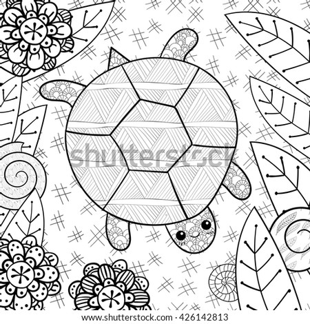 Adult Coloring Page Cute Clover Vector Stock Vector