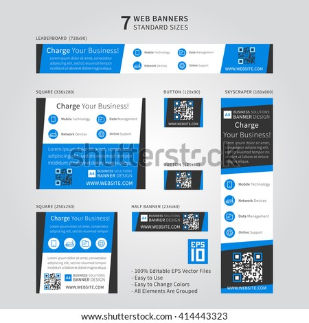 Advertising Ad Web Banner Vector Template Stock Vector 413593495 ...