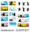 Advertising banners for sports championships and concerts - stock photo