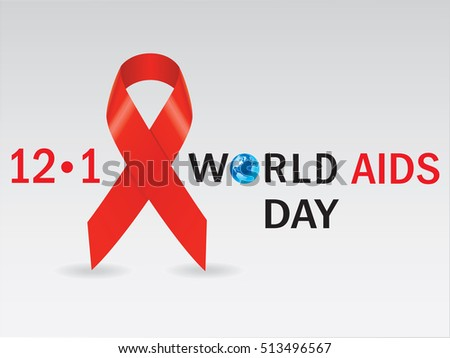 Aids red ribbon.Vector