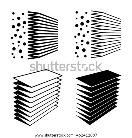 air filter effect black symbol vector