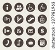 Airport services icons - stock vector