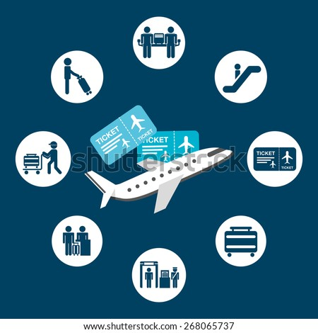 airport signs design, vector illustration eps10 graphic