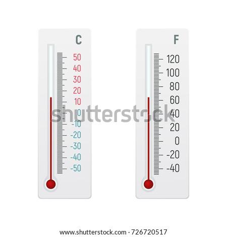 There thermometer degrees celsius fahrenheit vector stock vector 69723682 shutterstock - Temperature frigo 10 degres ...
