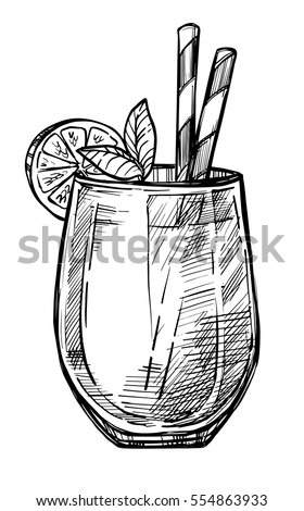 Olive Old Fashioned Drawing