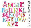 alphabet design. vector illustration - stock photo