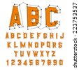 Alphabet set. 3d vector illustration. Design elements. - stock vector