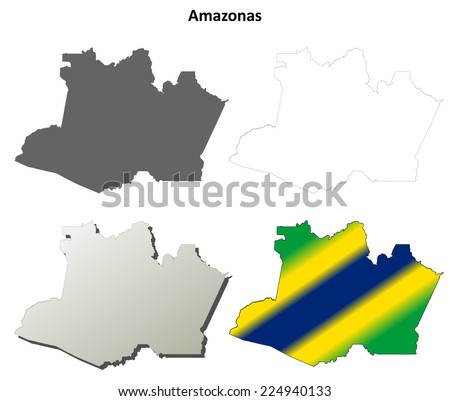 David Zydds Brazil State Outline Maps Set On Shutterstock - State outline map