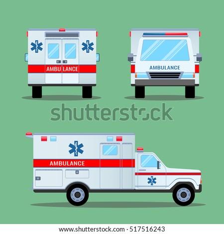 ambulance lights isolated on white flashing stock vector