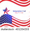 American Flag for Independence Day - stock vector