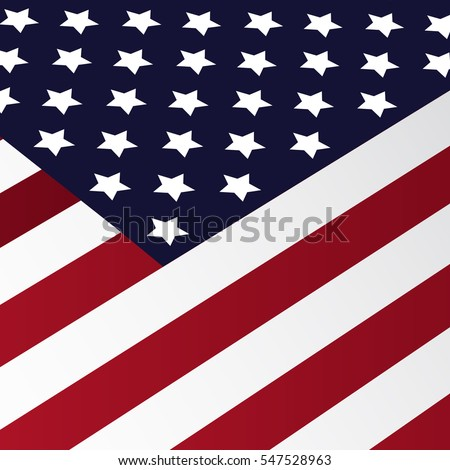 American flag in perspective vector illustration