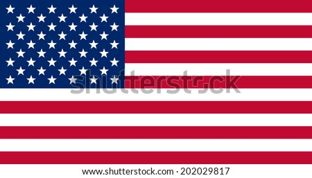 American flag vector eps 10