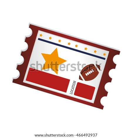 american footbal ticket , isolated flat icon design