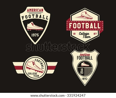 Vintage logo vector set stock vector 146055758 shutterstock American football style t shirts