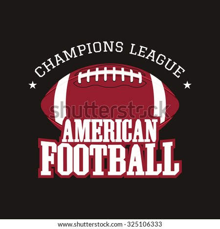 Modern Professional Football Template Logo Design Stock: american football style t shirts