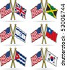 American Friendship Flags 2 - stock photo