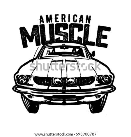 muscle car logo vector isolated stock vector 685335628
