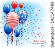 American patriotic balloons/ 4th of July - stock vector