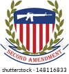 American patriotic emblem.Second amendment-U.S. constitution - stock photo