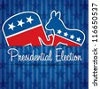 American presidential election card/poster in vector format. - stock