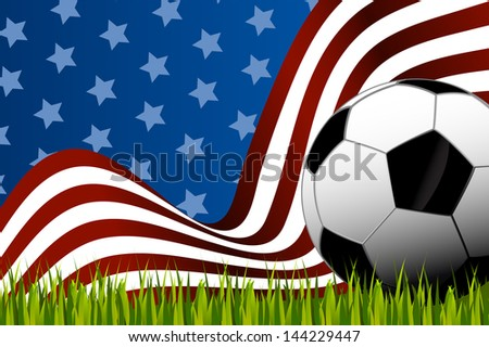 American soccer background ball