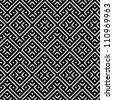 An elegant black and white, vector pattern - stock
