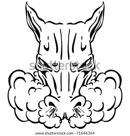 Angry Horse Head Logo Angry Horse Head Logo an Image