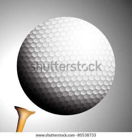An image of a golf ball launching off a tee.