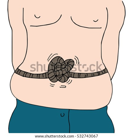 An image of a knotted stomach man.
