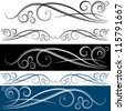 An image of a swirl banner set. - stock