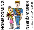An image of the homecoming king and queen. - stock photo