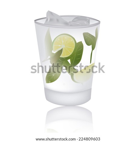 an isolated white cocktail on a white background