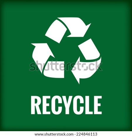 green recycle symbol text please recycle stock vector