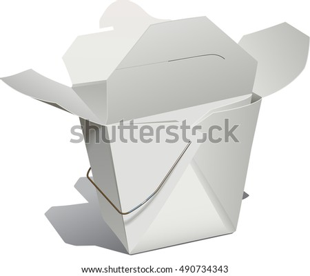 An open Chinese food container
