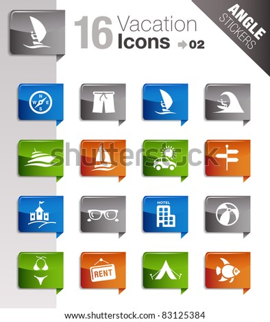 Angle Stickers - Vacation icons