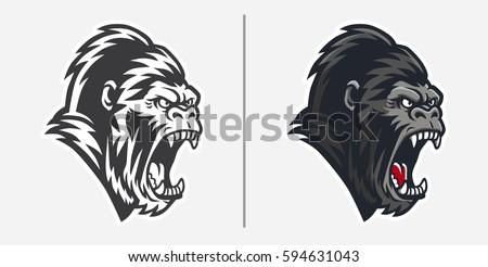 Gorilla Head Logo Mascot Emblem Stock Vector 275446655 ...