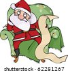 Angry Santa with the list - stock vector