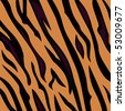 Animal background pattern - tiger skin texture. Background texture of tiger skin. Use this seamless texture for your unique design! - stock vector
