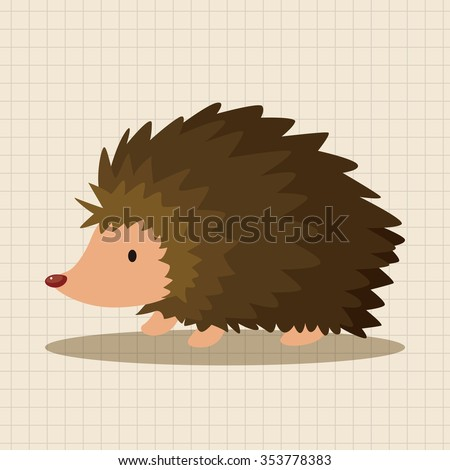 animal Hedgehog cartoon theme elements