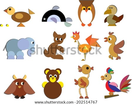 Animal set for children's crafts
