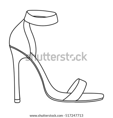 ankle straps icon outline style isolated stock